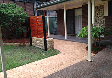 wide view paved patio