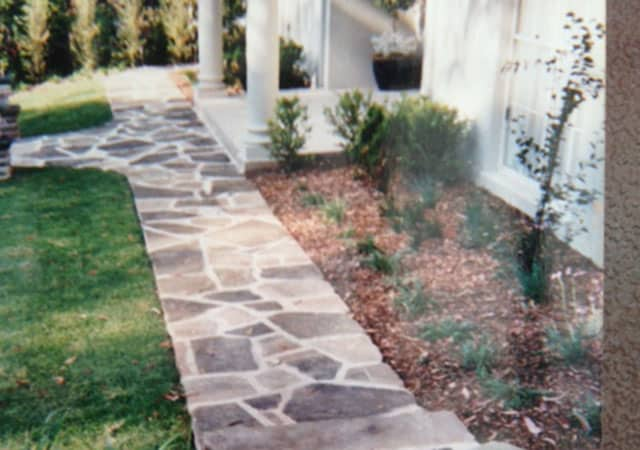Crazy paving garden path